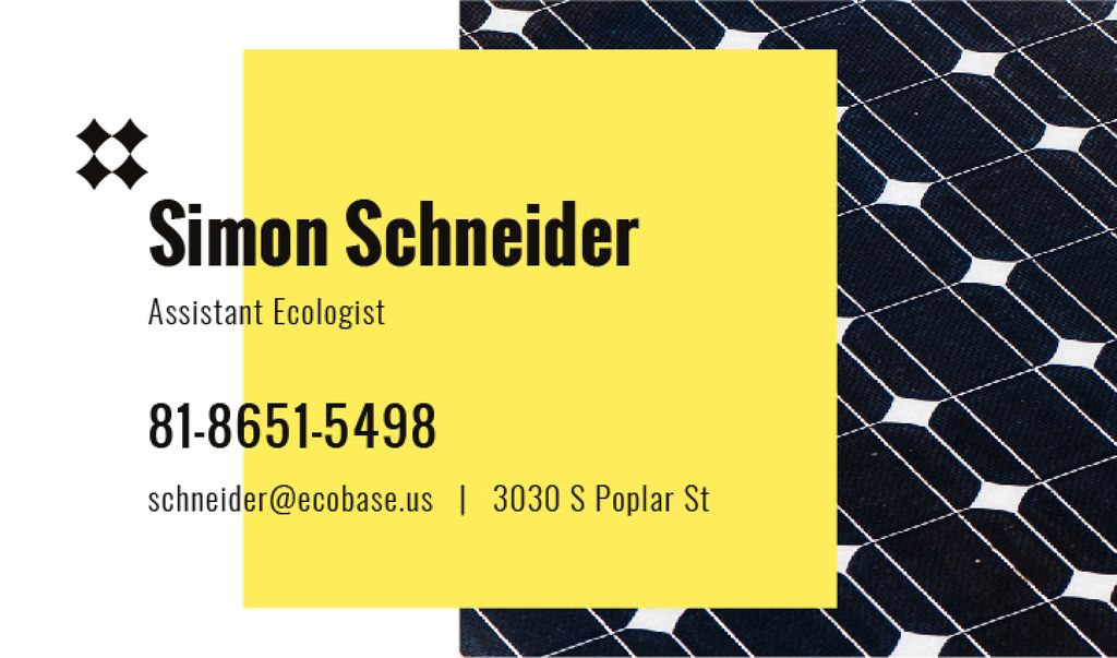 Ecologist Services Ad Solar Panel Surface | Business Card Template — Створити дизайн