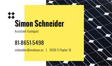 Ecologist Services Ad Solar Panel Surface