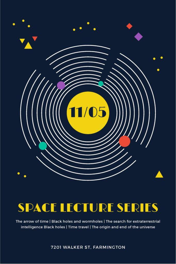 Space Event Announcement Space Objects System — Crear un diseño