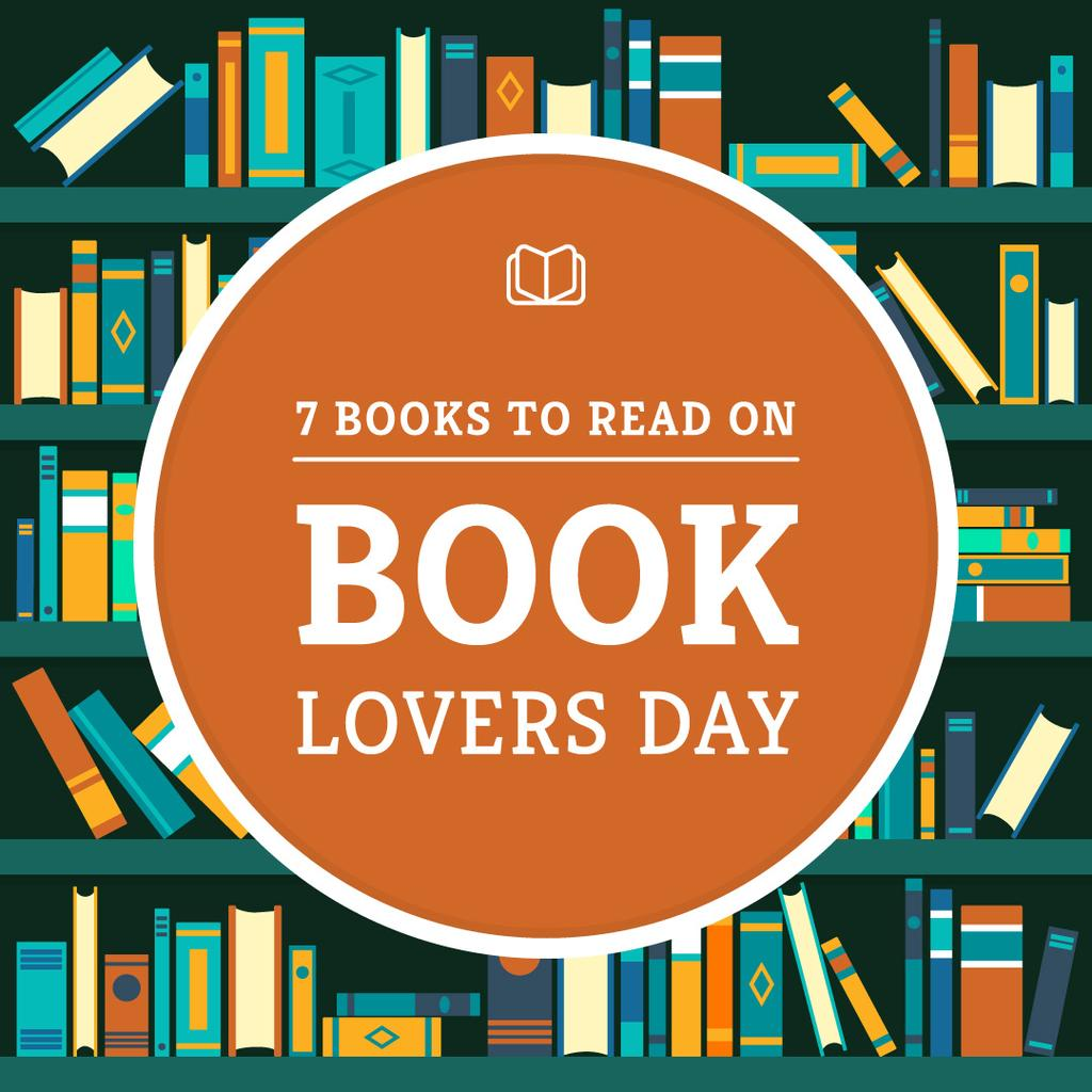 7 books to read on book lovers day poster — Maak een ontwerp