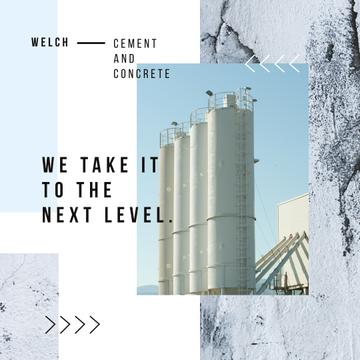 Cement Plant Large Industrial Containers | Instagram Ad Template