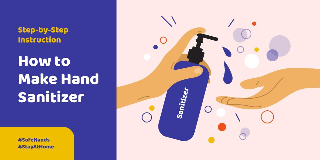 #SaveHands Instruction how to make Hand Sanitizer —デザインを作成する