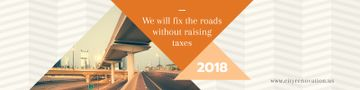 Fixing roads banner