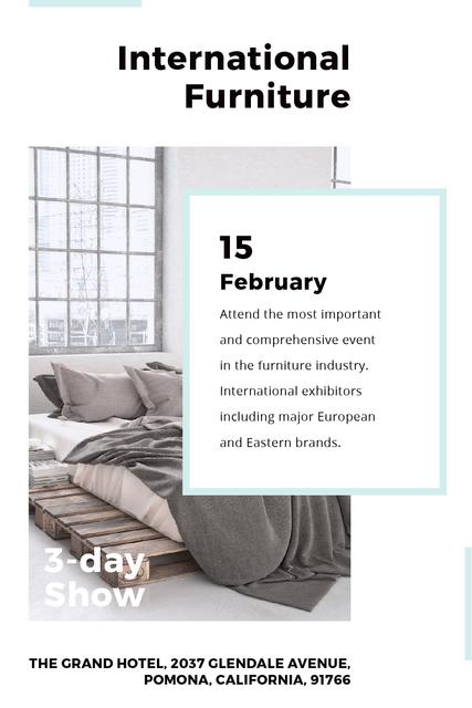 Furniture Show Bedroom in Grey Color Tumblr Tasarım Şablonu