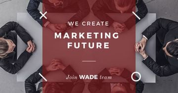 Inspiration Quote Marketing Team at Meeting | Facebook Ad Template