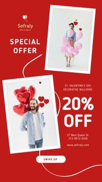 Valentine's Day Decorative Balloons Sale in Red