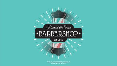 Plantilla de diseño de Barbershop Striped Lamp Full HD video
