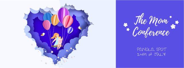 Plantilla de diseño de Mother and child swinging in the clouds Facebook Video cover