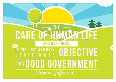 Modèle de visuel Citation about Care of human life - Postcard
