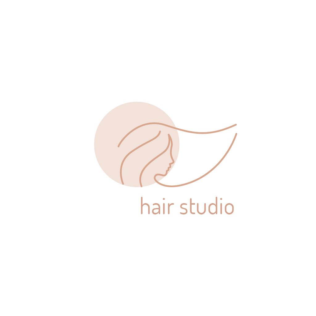 Hair Studio Ad Woman with Pink Hair — Crea un design