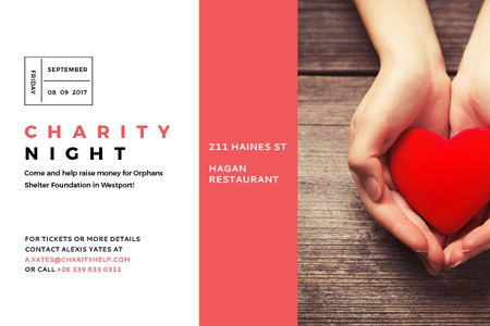 Szablon projektu Corporate Charity Night Gift Certificate
