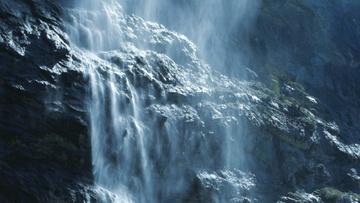 Scenic Waterfall Landscape