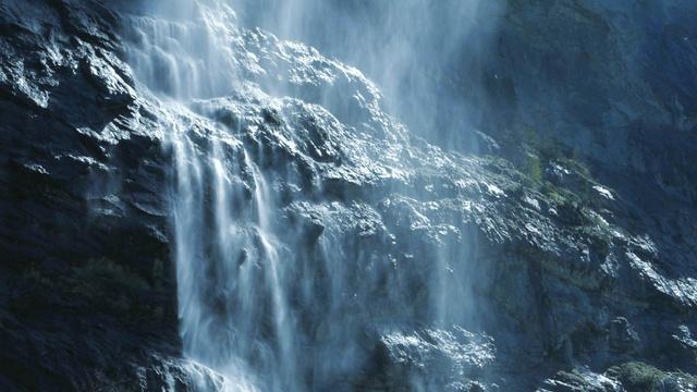 Szablon projektu Scenic Waterfall Landscape Zoom Background