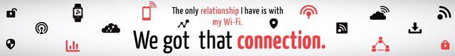 Wi-fi connection poster Leaderboard Tasarım Şablonu