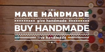handmade workshop banner with colorful buttons
