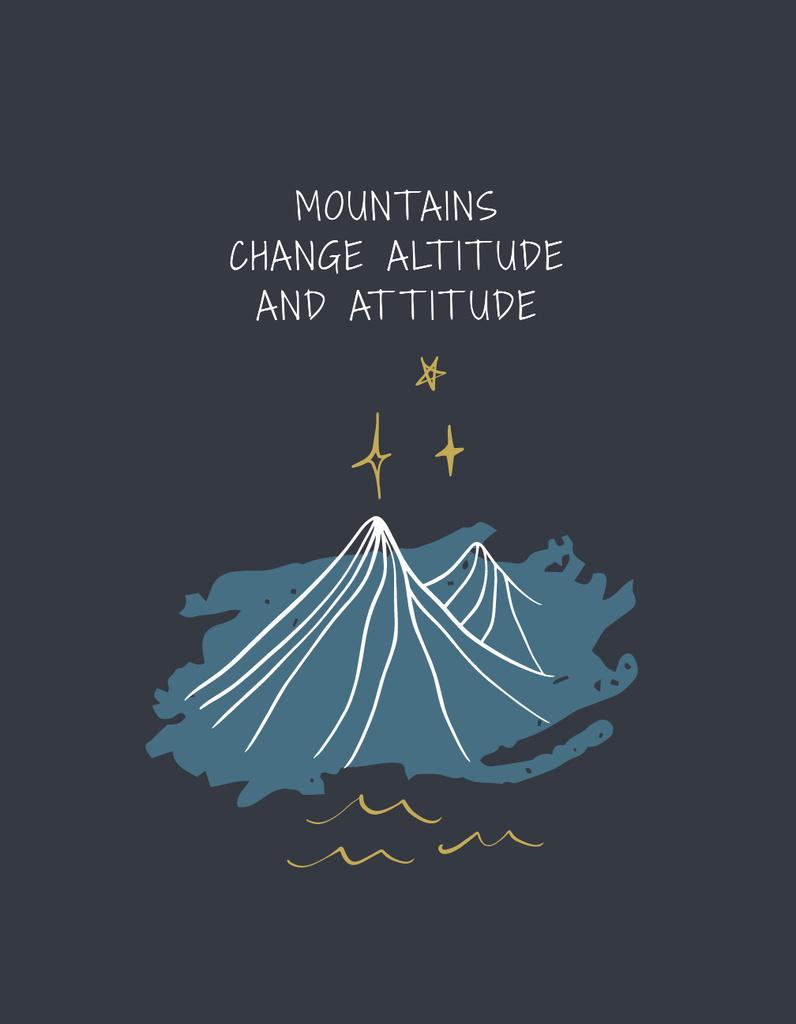 Inspirational Quote with Mountains illustration — Создать дизайн