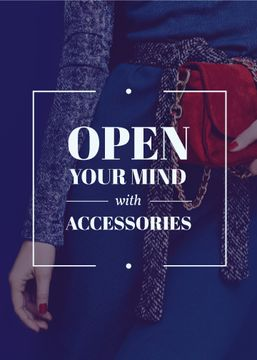 Accessories Quote Stylish Woman in Blue | Flyer Template