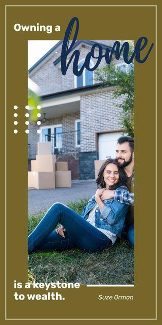 Plantilla de diseño de Happy couple by new house Graphic
