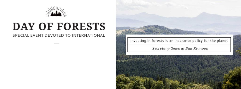 International Day of Forests Event Scenic Mountains — ein Design erstellen