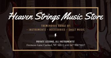 Music Store Offer with guitars