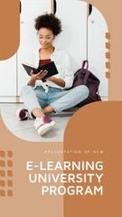 E-learning University program overview