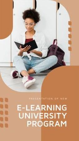 E-learning University program overview Mobile Presentation Modelo de Design