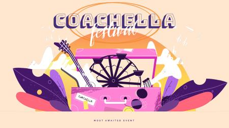 Ontwerpsjabloon van Full HD video van Coachella festival attributes