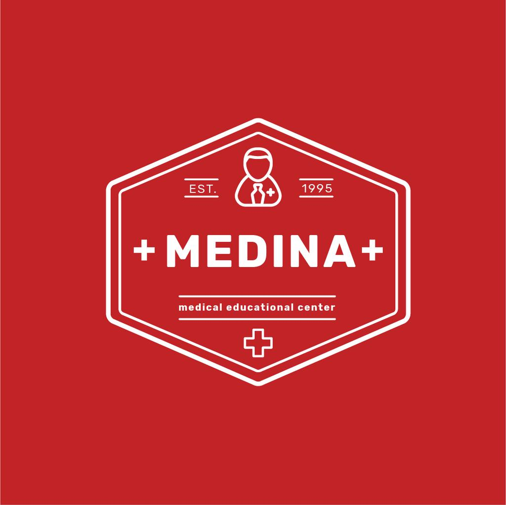 Medical Education Center Cross Icon — Create a Design
