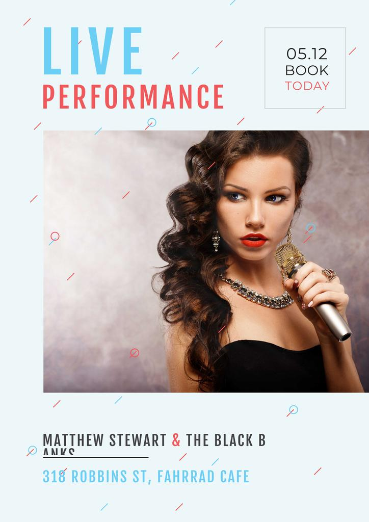 Performance with gorgeous female singer — Crear un diseño