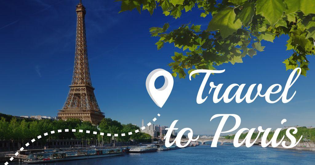 Travel to Paris banner — Создать дизайн