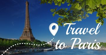 Travel to Paris banner