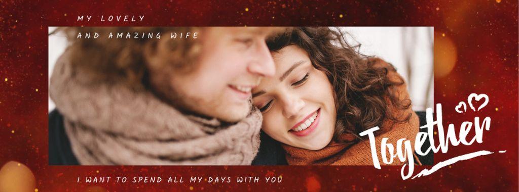 Happy romantic Couple on Valentine's Day — Maak een ontwerp