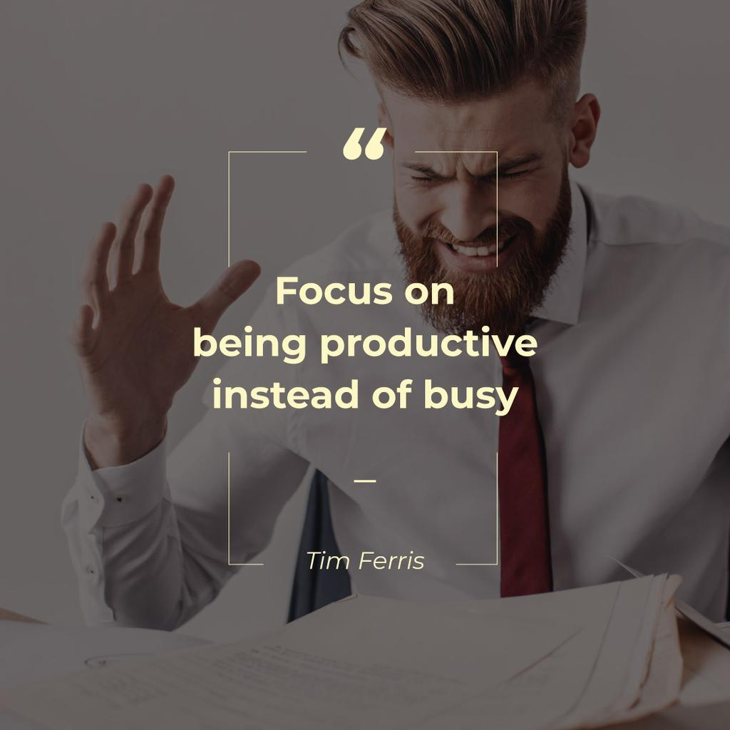Focus on being productive instead of busy — Maak een ontwerp