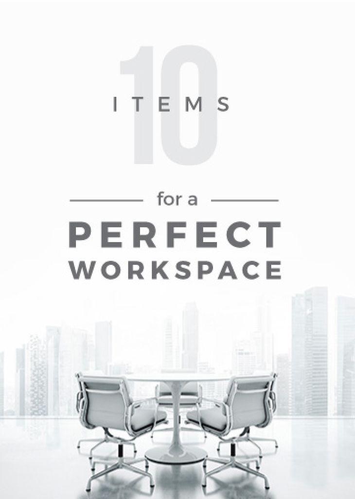Workspace Furniture Guide Office in White — Modelo de projeto