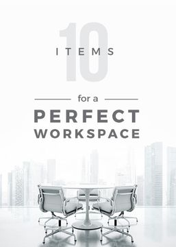 items for a perfect workspace poster