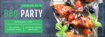 BBQ Party Invitation Grilled Chicken