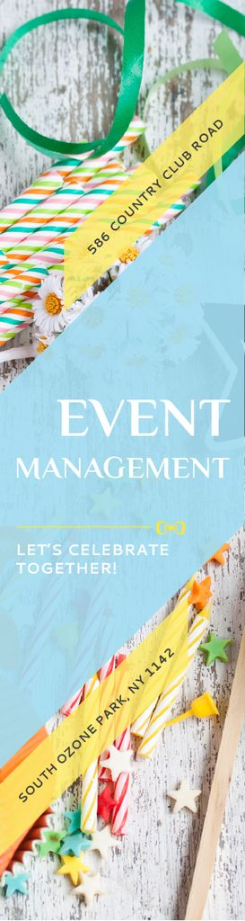 Event Management Studio Ad Bows and Ribbons | Wide Skyscraper Template — Maak een ontwerp