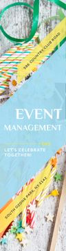 Event Management Studio Ad Bows and Ribbons | Wide Skyscraper Template