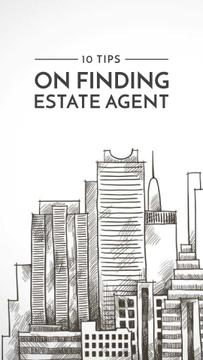 Real Estate tips with hand drawing Buildings