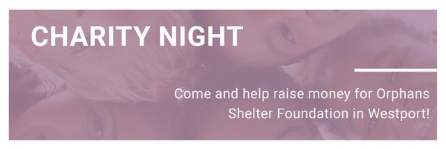 Corporate Charity Night Twitter Modelo de Design