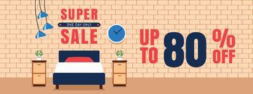 Furniture Sale Cozy Bedroom Interior