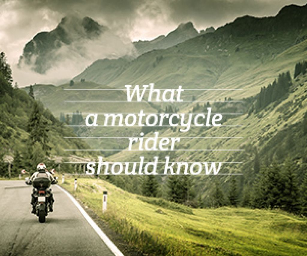 refresher for motorcycle rider poster Medium Rectangle Design Template