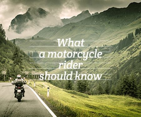 Modèle de visuel refresher for motorcycle rider poster - Medium Rectangle