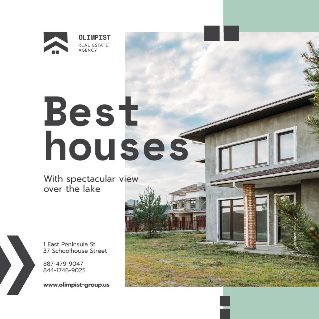 Real Estate Ad Modern House Facade — Create a Design