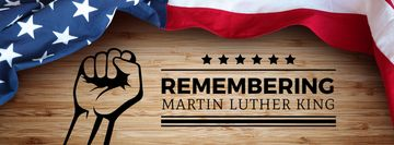 Martin Luther King Day Greeting with Flag | Facebook Cover Template