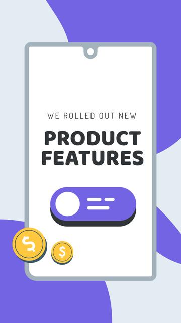Template di design Software Privacy features update Mobile Presentation