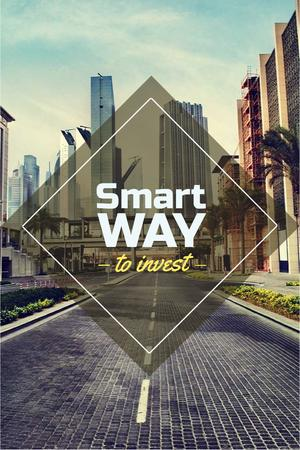 Plantilla de diseño de Smart investments concept Pinterest