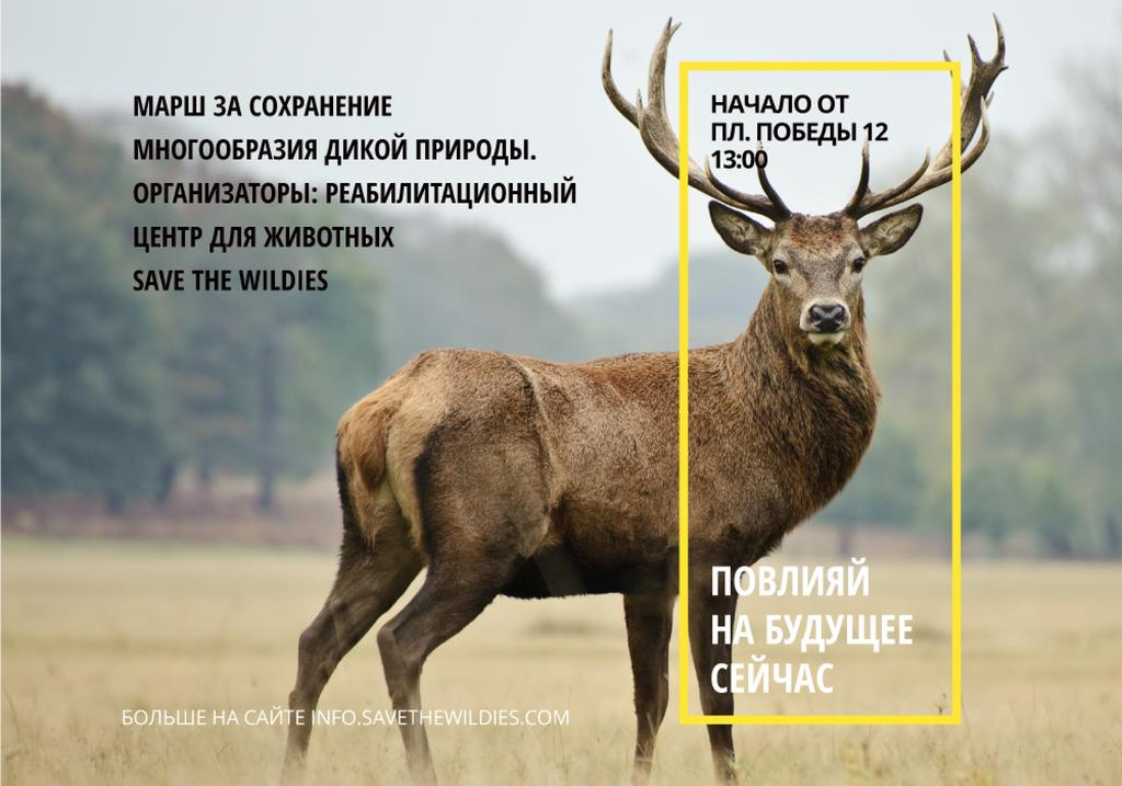 Ecological Event Wild Deer with Antlers | VK Universal Post — Crea un design
