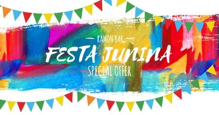 Ontwerpsjabloon van Facebook AD van Ramon bar on Festa Junina
