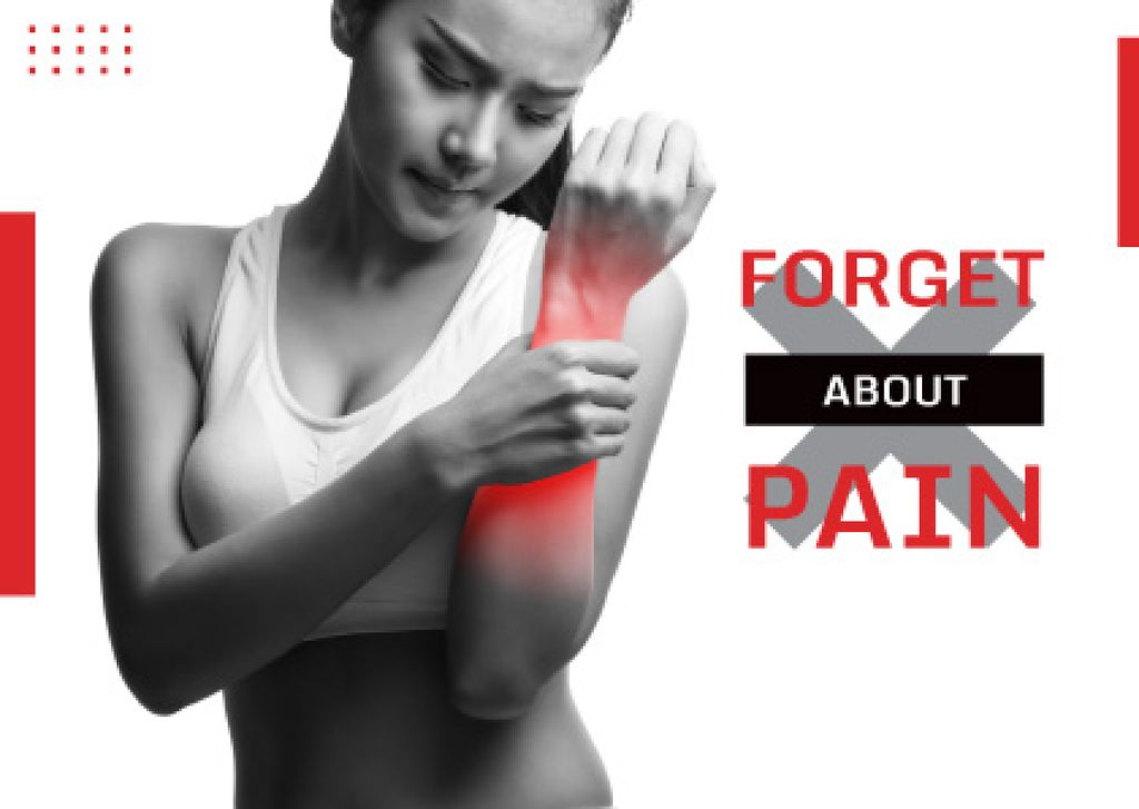 advertisement poster of pain reliever  — Create a Design